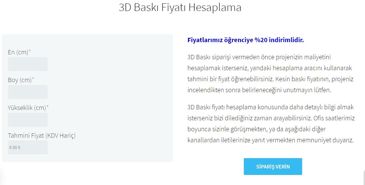 3D Baskı Hizmetleri