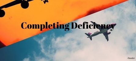 Completing Deficiency in Air Law
