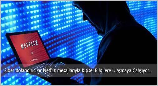 Siber Dolandırıcılar Netflix Uzerinden Kişilerin Bilgilerine Ulaşmaya Çalışıyor!